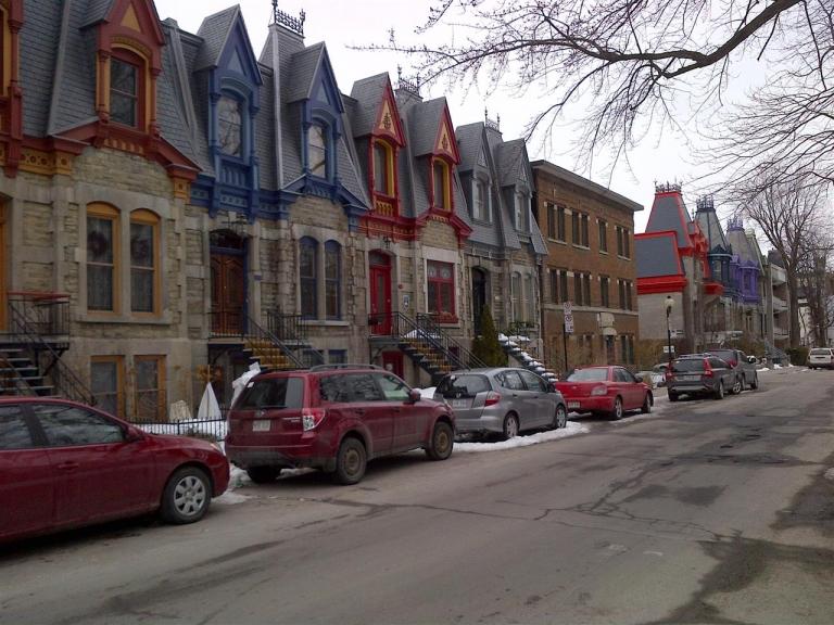Typische Häuserreihe in Montreal